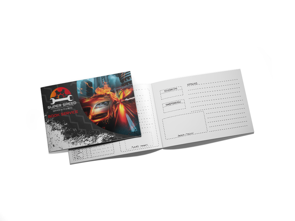 Εκτυπώσεις για Συνεργεία Αυτοκινήτων/Μοτο - Βιβλίο Service