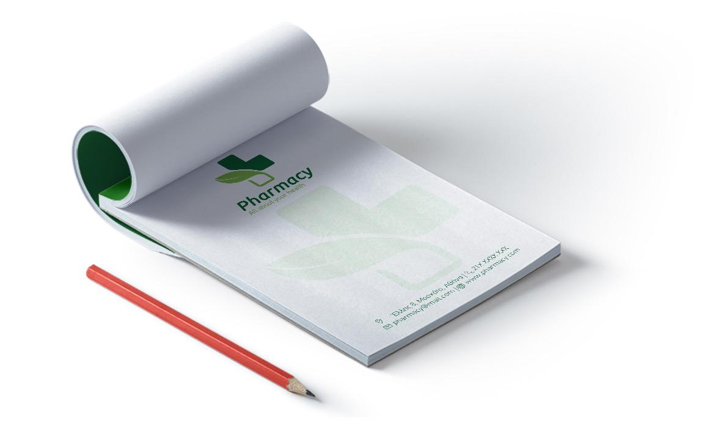 Εκτυπώσεις για Φαρμακεία - Μπλοκ Σημειώσεων